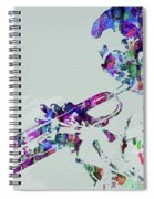 Legendary Miles Davis Watercolor Spiral Notebook