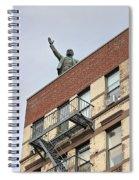 Lenin Statue In East Village N Y C Spiral Notebook
