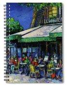 Les Deux Magots Paris Spiral Notebook