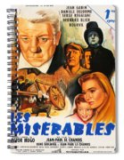 Les Miserables 1958 French Movie Classic Spiral Notebook
