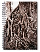 Life Is Complicated - Sepia Spiral Notebook