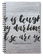 Life Is Tough #paintingbackground #inspirational Spiral Notebook