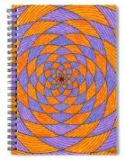Light Violet On Blue, Yellow On Red Fractal Pattern Spiral Notebook
