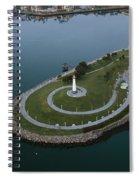 Lighthouse On The Coast, Long Beach Spiral Notebook