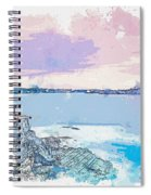 Lighthouse, Sydney, Australia -  Watercolor By Ahmet Asar Spiral Notebook