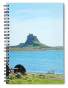 Lindisfarne Castle And Bay Spiral Notebook