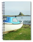 Lindisfarne Castle, Bay And Boat Spiral Notebook