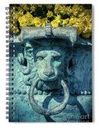 Lions Head On Flower Planter Spiral Notebook
