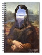 Lisa With A View Spiral Notebook