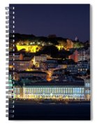 Lisbon In Christmas Time Spiral Notebook
