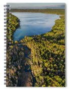 Litte Traverse Lake Vertical Panorama Spiral Notebook
