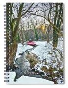 Little Red Walk Bridge Spiral Notebook