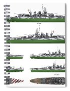 Littorio Class Battleships Spiral Notebook