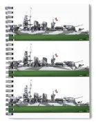 Littorio Class Battleships Port Side Spiral Notebook