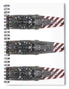 Littorio Class Battleships Top View Spiral Notebook