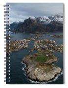 Lofoten Henningsvaer Spiral Notebook