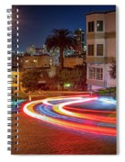 Lombard Street And The Bay Bridge Spiral Notebook