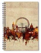 London Skyline Sepia Spiral Notebook