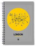London Yellow Subway Map Spiral Notebook