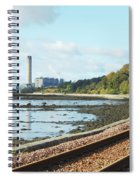 Longgannet Power Station And Railway Spiral Notebook