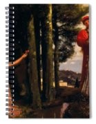 Look Any Laughs To The Plains Spiral Notebook