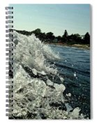 Look Into The Wave Spiral Notebook
