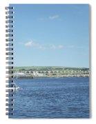 looking up river Tweed at Berwick Spiral Notebook