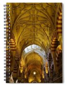 Looking Up Within The Cordoba Mezquita Spiral Notebook