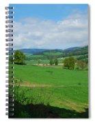 looking westwards in Tweed valley Spiral Notebook
