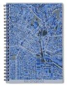 Los Angeles Map Retro 5 Spiral Notebook
