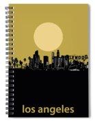 Los Angeles Skyline Minimalism Yellow Spiral Notebook