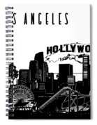 Los Angeles Skyline Panorama Spiral Notebook