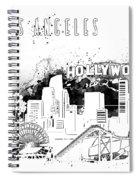 Los Angeles Skyline Panorama White Spiral Notebook