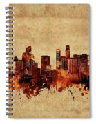 Los Angeles Skyline Vintage Spiral Notebook