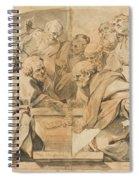 Los Apostoles Ante El Sepulcro Vacio De La Virgen  Spiral Notebook