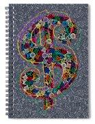 Louis Vuitton Dollar Sign-9 Spiral Notebook