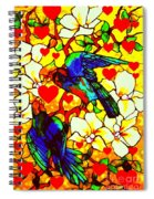 Love Birds In The Love Tree With Hibiscus Spiral Notebook