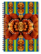 Love For The Fantasy Flowers With Happy Joy Spiral Notebook