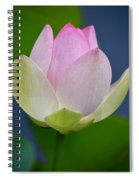 Lovely Soft Lotus Spiral Notebook