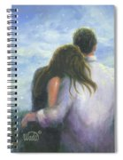 Lovers Looking Forward Brunettes Spiral Notebook