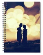 Loving Couple Standing In A Cozy Winter Scenery. Spiral Notebook