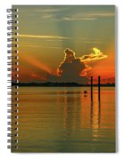 Low Flying Pelican Sunrise Spiral Notebook