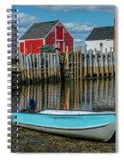 Low Tide At Blue Rocks 02 Spiral Notebook