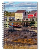 Low Tide At Blue Rocks 05 Spiral Notebook