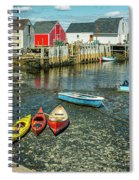 Low Tide At Blue Rocks 01 Spiral Notebook