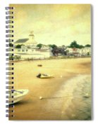 Low Tide Provincetown Cape Cod Massachusetts Shoreline Textured Spiral Notebook