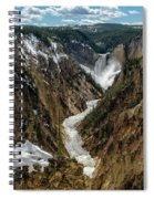 Lower Falls In Yellowstone Spiral Notebook