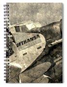 Lufthansa Junkers Ju 52 Vintage Spiral Notebook