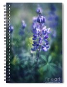 Lupine Blues Spiral Notebook