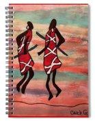 Maasai Dancers Spiral Notebook